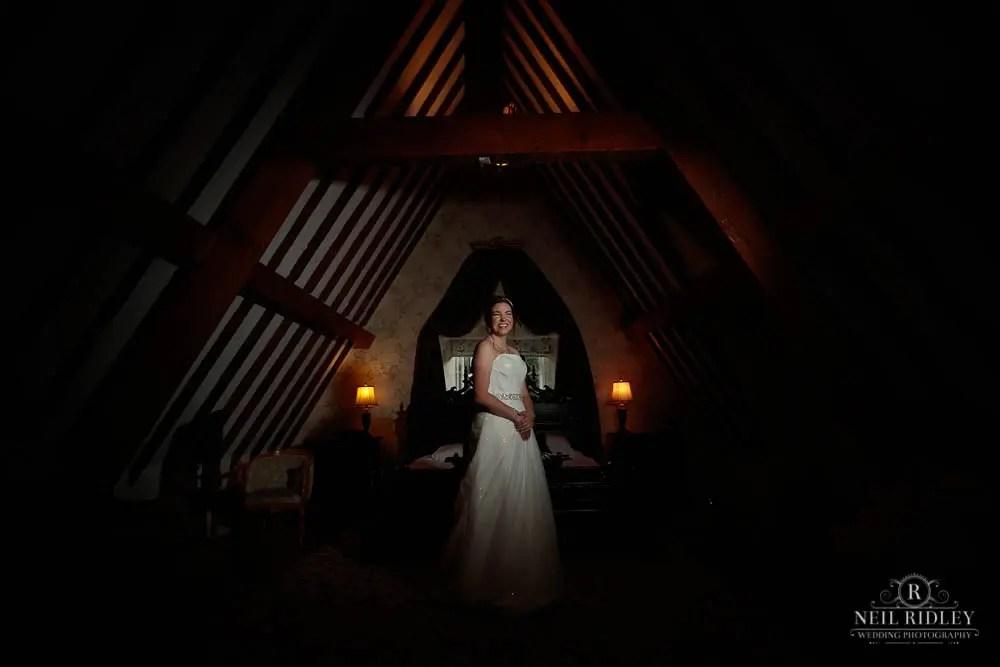 bride during bridal prep