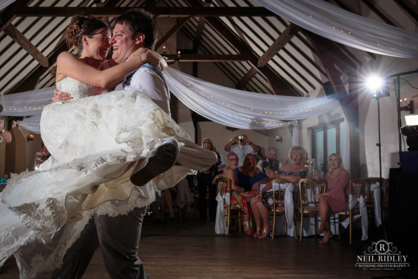 First dance with Bride and Groom at The Great Hall at Mains