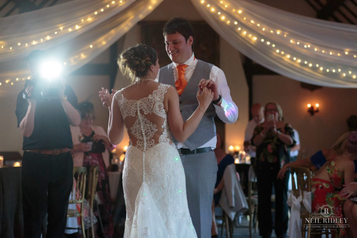 First dance with Bride and Groom at The Great Hall at Mains.