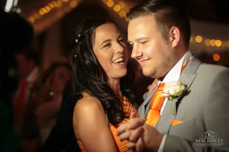 Bridesmaid and Best Man dance at The Great Hall at Mains