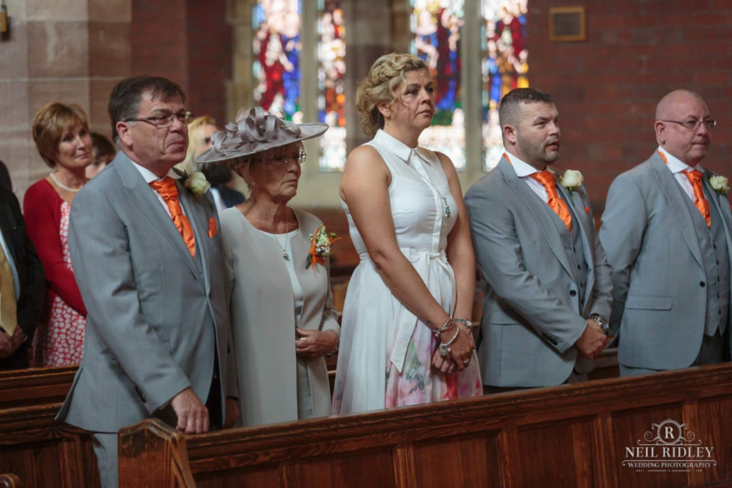 Wedding Guests in Church St Thomas Church in St Annes-on-Sea