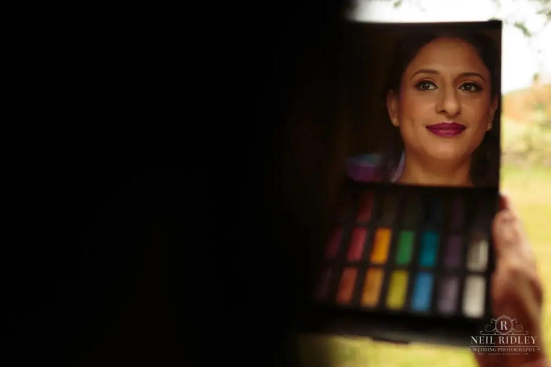 Merrydale Manor Wedding Photographer - Brides reflection in a makeup miror