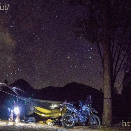 Camping under the stars in Sequoia National Forest