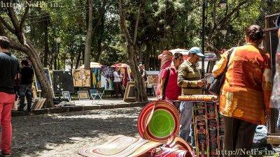 Artisan junk at the market of San Angel
