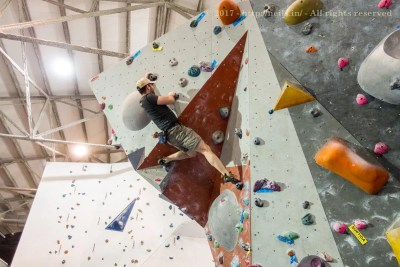 Me bouldering and easy route (with difficulty)