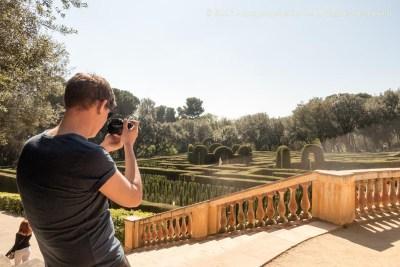Friend visit at the labyrinth of Horta