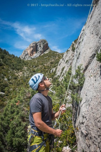 Michal belaying