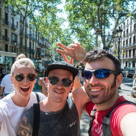 Tourists on La Rambla