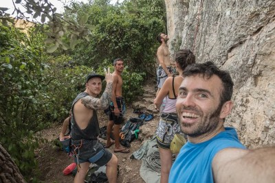 Group selfie with the climbing group