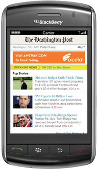 WashingtonPost mobile site