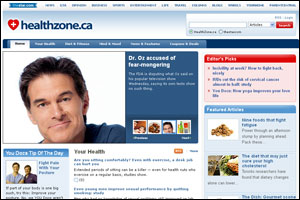 Healthzone.ca front page 2011