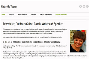 Gabrielle Young - Adventurer, Outdoors Guide, Coach, Writer and Speaker