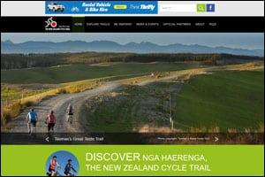 New Zealand Cycle Trail website