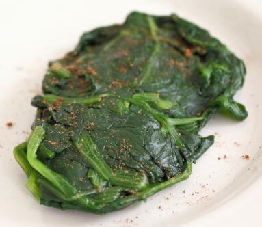 Spinach and nutmeg