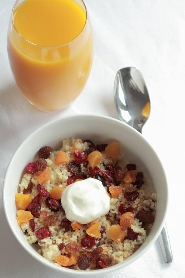 Breakfast couscous is a naturally sweet, easy to make, nutritious and quickly made delicious bowl of goodness to start your day. Try it! You'll be surprised!