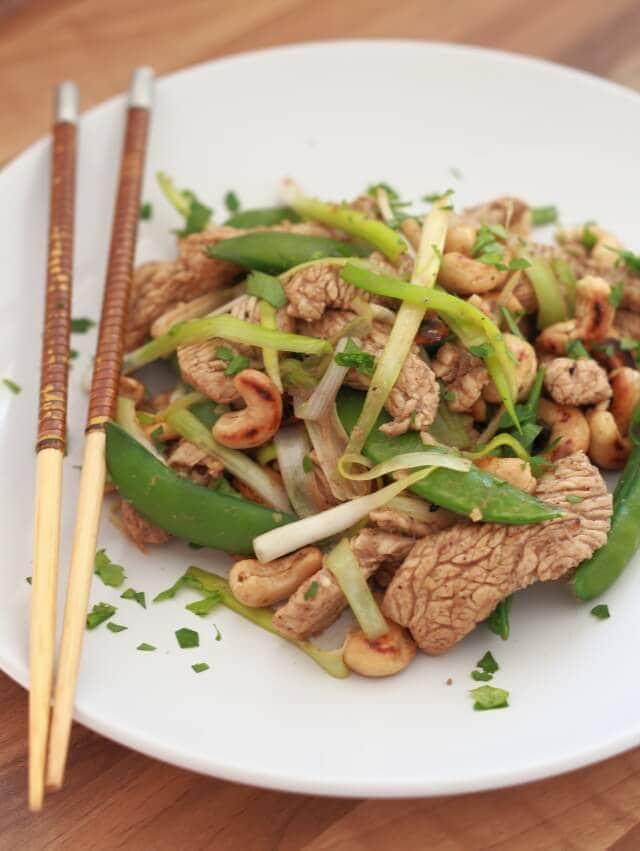 I love this stir fry turkey with sugar snap peas recipe. Not only is it really healthy, it's quick and easy to prepare too. And, as the turkey is marinated first, less oil is needed, cutting the overall fat content and helping to prevent the turkey drying out during cooking too. A perfect quick healthy meal for two ready in just 40 minutes!