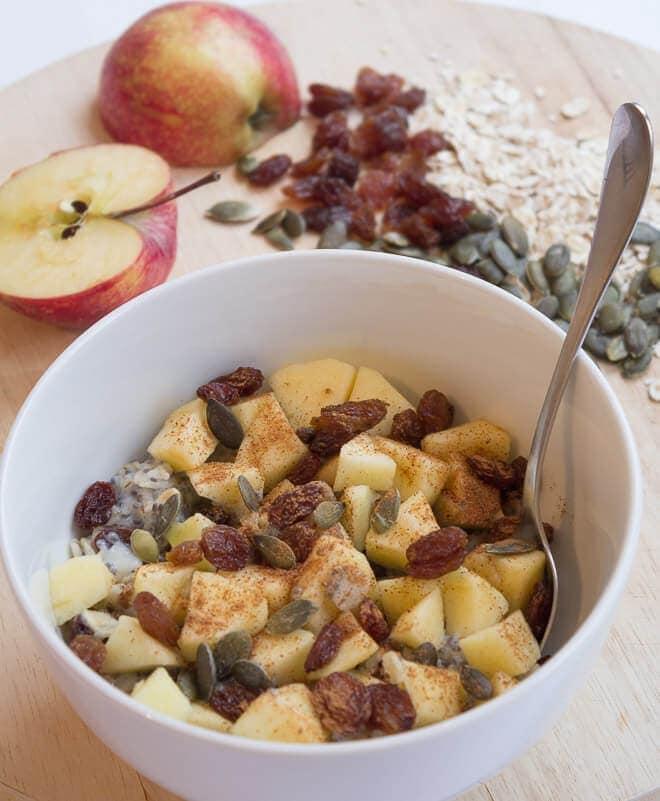 This barley flakes and apple porridge makes a delicious alternative to oatmeal. Nutty tasting, with just a touch of cinnamon and packed full of fibre and essential vitamins and minerals it'll help to awaken all your senses in the morning!