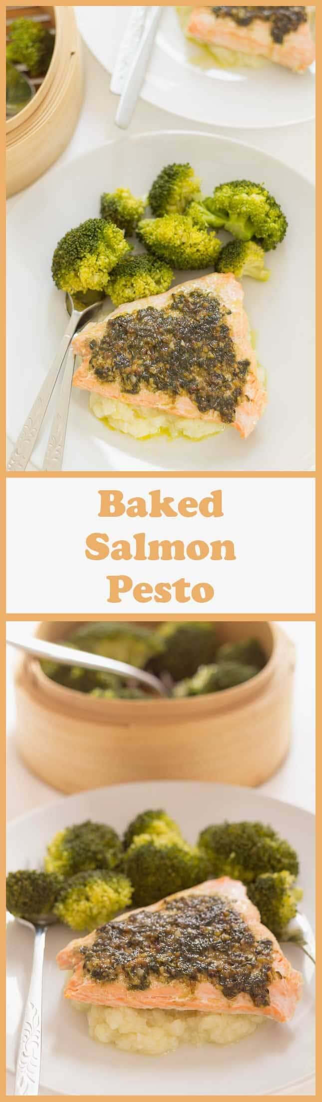 This Oven Baked Salmon Pesto Is Ready In Just 30 Minutes Andes With A  Creamy
