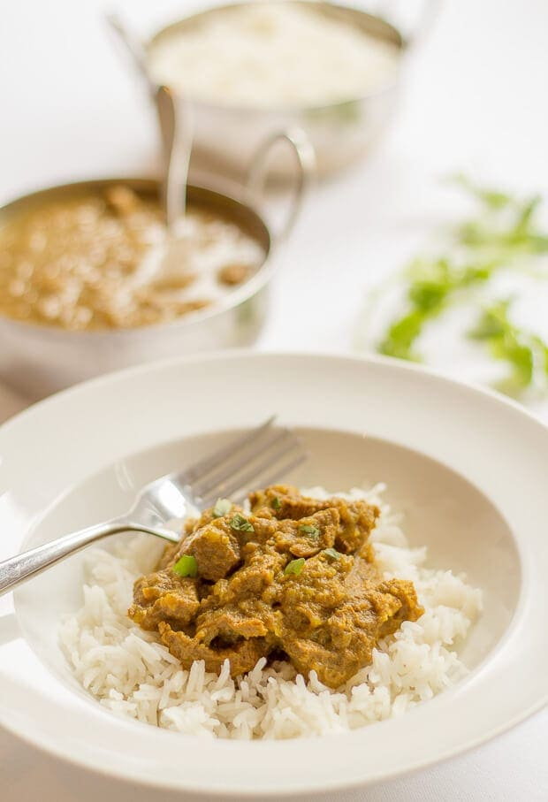 A mild beef curry recipe that is beautifully healthy, low in calories and just packed full of flavour! It's made with a range of spices that will have your tongue tingling with delight, and not burning alight!
