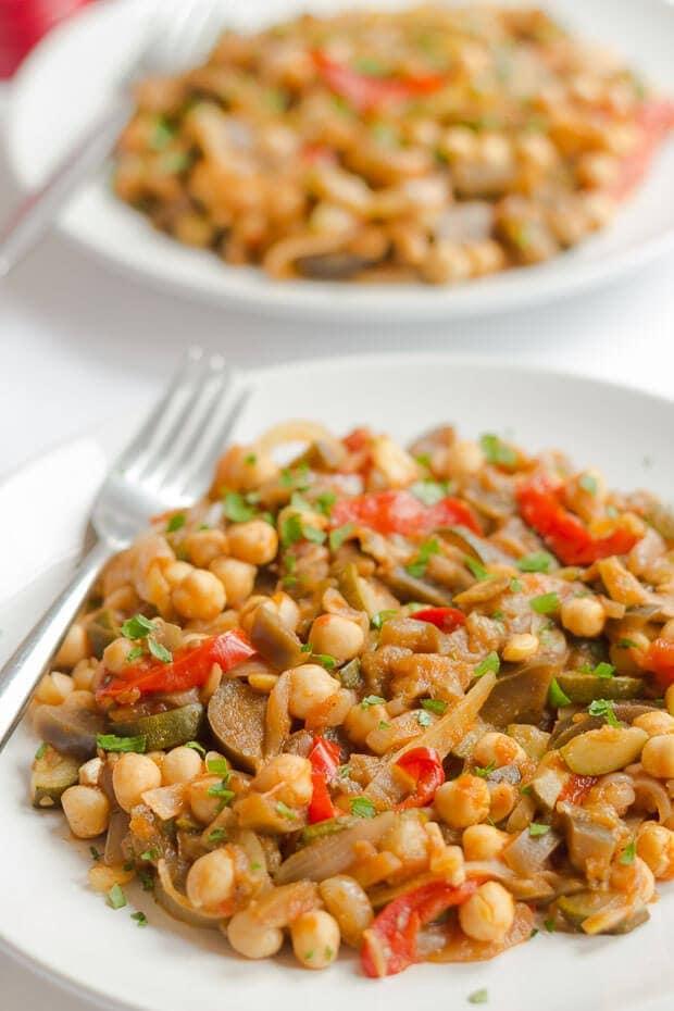 Ratatouille and Chickpea Stew above recipe