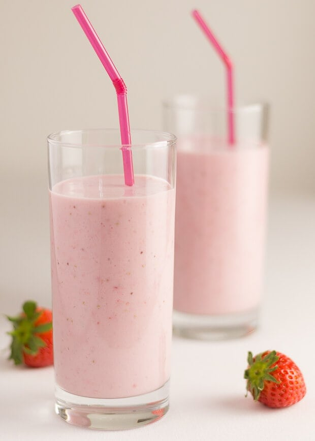 Strawberries and Cream Smoothie Featured Image