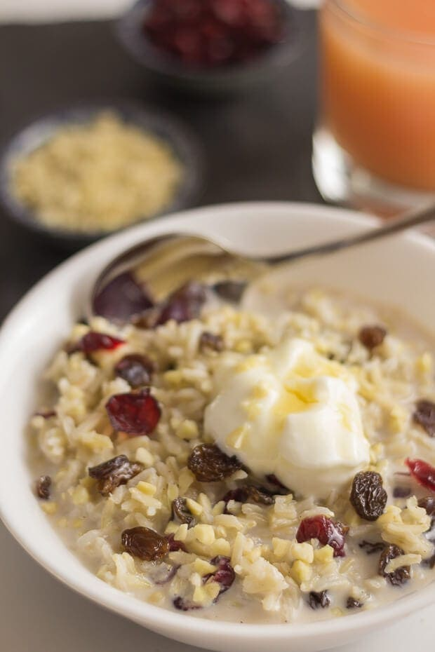 Overnight Breakfast Rice Pudding Featured Image