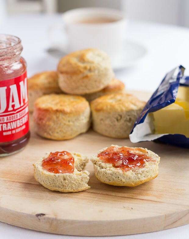 Easy, tasty Scottish bran scones recipe. Made using a traditional familiy recipe and minimal ingredients. Best served with butter and Jam!