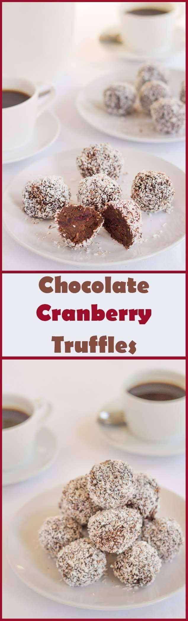 Delicious and simple to make, you'll love these chocolate cranberry truffles. Low fat, low carb, only 184 calories each and with a secret healthy ingredient!