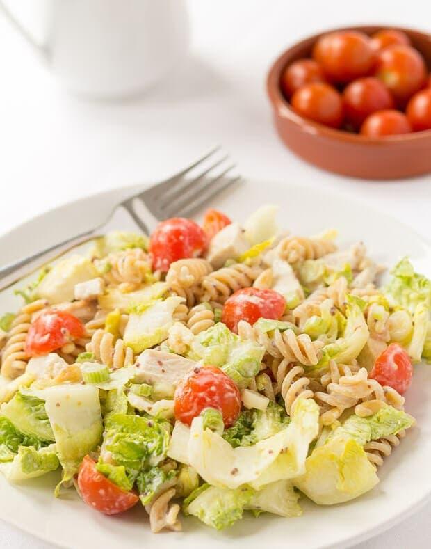 Honey Mustard Turkey Pasta Salad