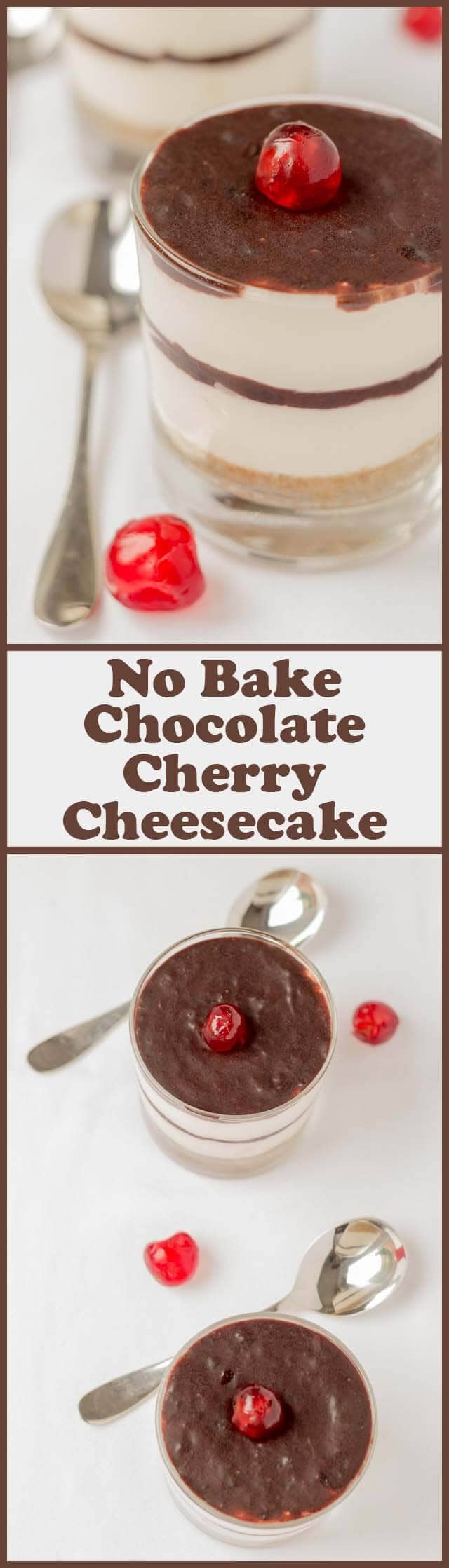 This no bake chocolate cherry cheesecake is a deliciously wicked and indulgent treat. Made in a glass for ease and with no need to turn on the oven, this time saving dessert is perfect for dinner parties allowing you to prepare this prior to serving your main course!