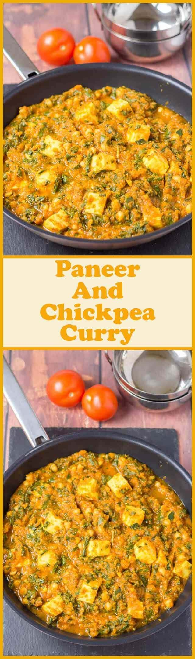 This vegetarian paneer and chickpea curry is not only healthy and easy to make, but it's incredibly low cost too. Tinned tomatoes, tinned chickpeas and a selection of store cupboard spices combined with paneer cheese make a deliciously mild family curry for four!