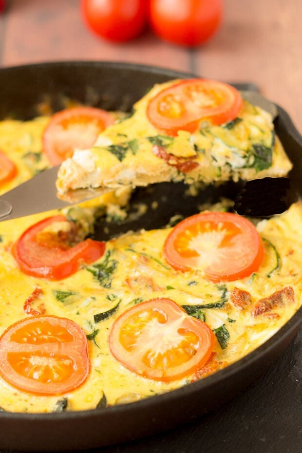 Courgette and Sundried Tomato Frittata