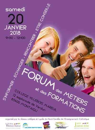 Forum des Métiers et des Formations 2018