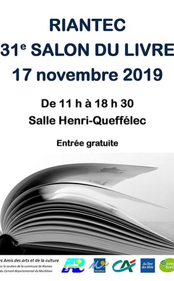 affiche salon du livre Riantec 2019