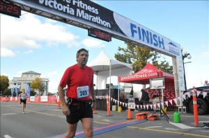 neil Victoria Marathon Finish