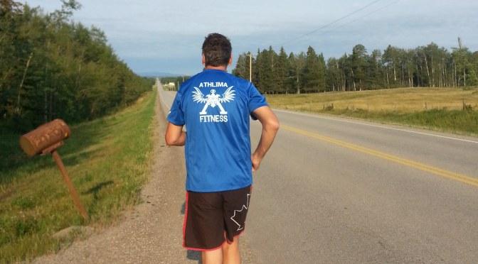 Neil Running on Road