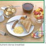 Volume-Low energy density breakfast