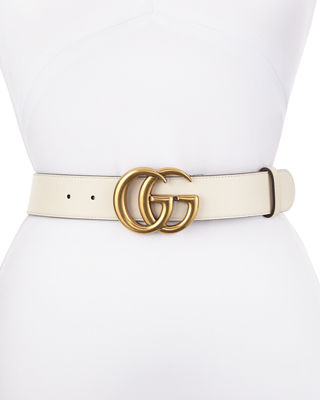 d1b98ee6 White Leather Belt Neiman Marcus Quick Gucci Leather Belt With Gg Buckle