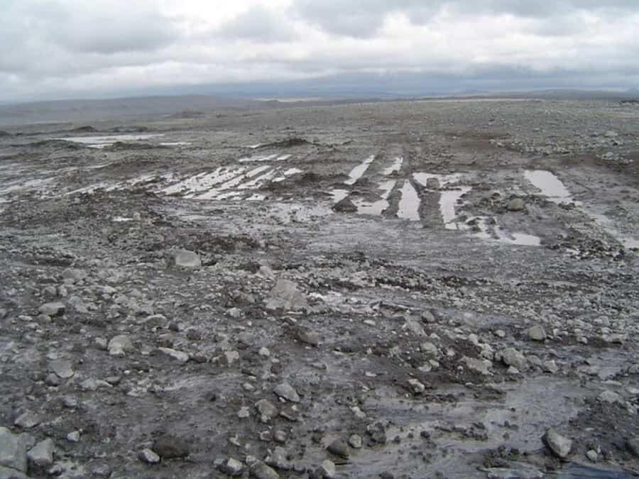 Afbeelding 1: Keileemvlakte zoals nu nog te zien in IJsland.