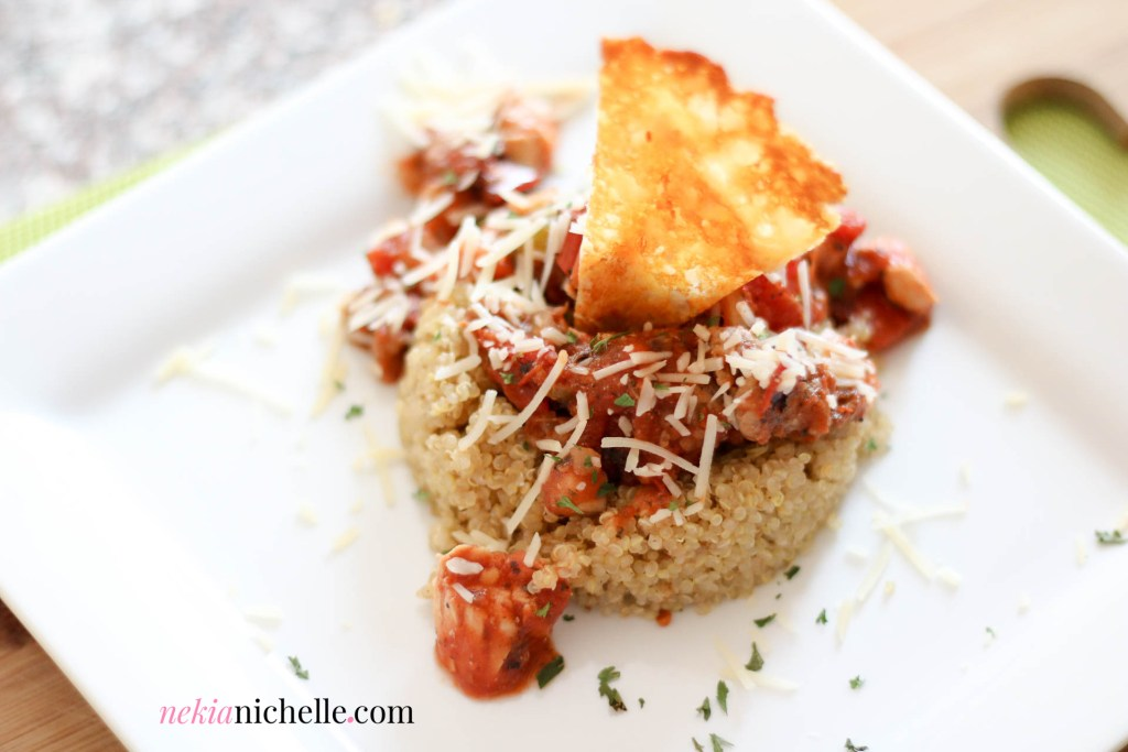 Quinoa with Chicken & Turkey Meat Sauce