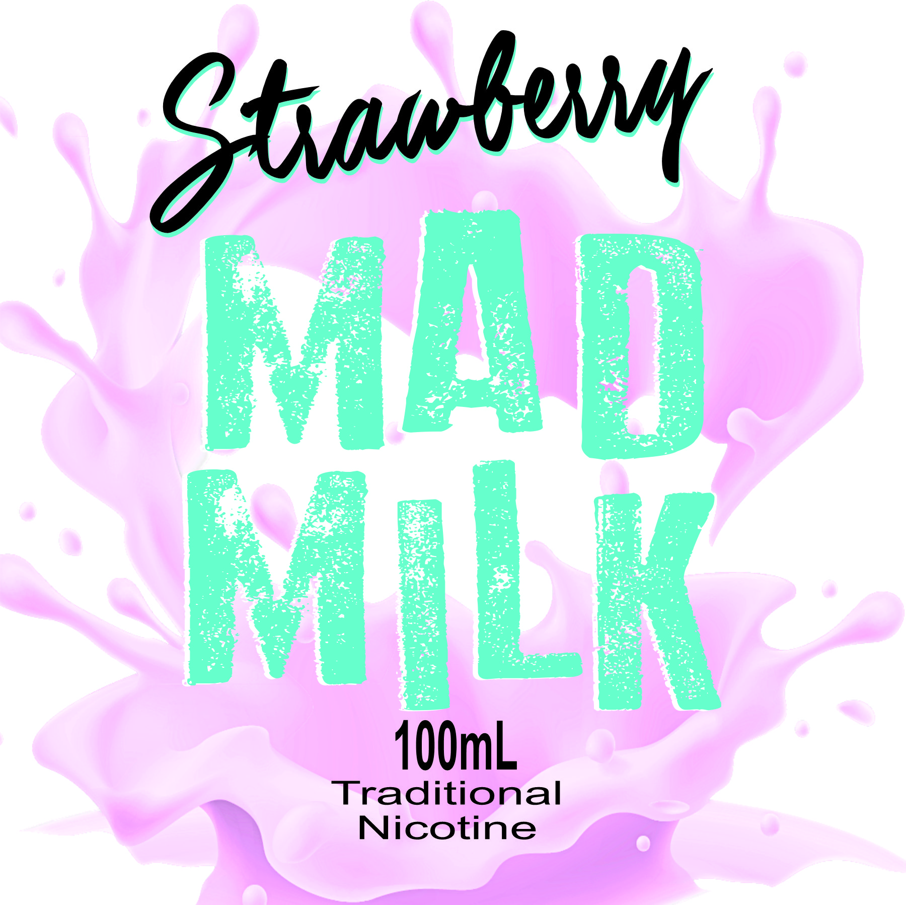 100ml-Mad-Milk-strawberry-THREE Strawberry Mad Milk E-liquid - 100ml