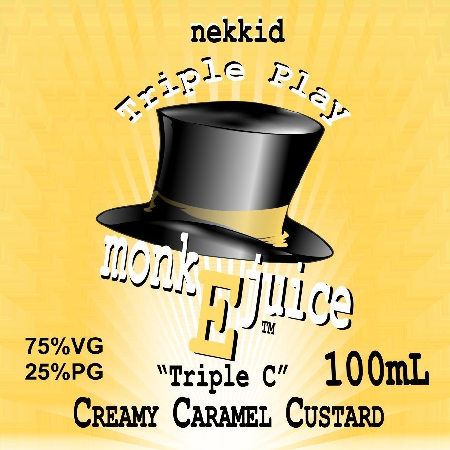 Triple C - Creamy Caramel Custard 100mL value Size
