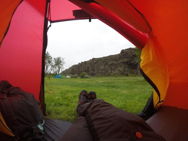 Godt installert i teltet