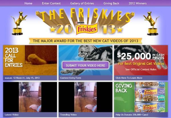130622thefriskies 600x415 - 米フリスキー動画コンテスト「The Friskies 2013」。各賞賞金は5000ドル+猫大好き副賞