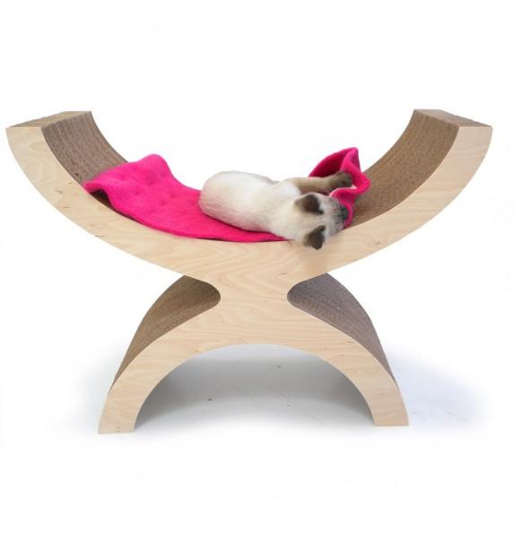 131001Couchette02 573x600 - モダンな猫ベッドシリーズ:Couchette