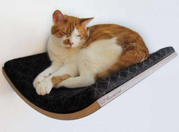 131007catbed02 600x443 - モダンな猫ベッドシリーズ:Curve Pet Bed
