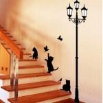 階段にぴったりな、猫ウォールステッカー