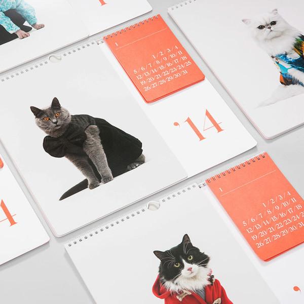 131103catcalendar02 - ファッションモデル猫が彩りを添える、2014年猫カレンダー