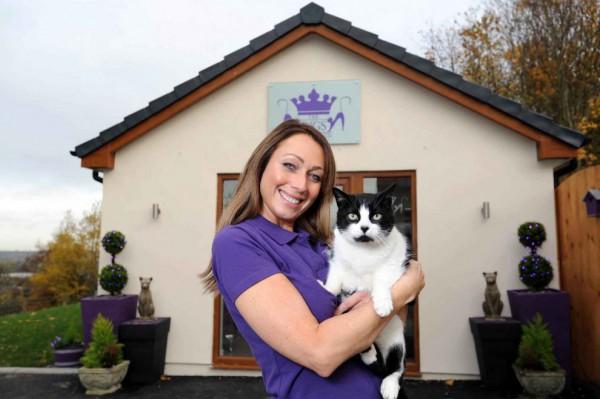 131205cathotel07 600x399 - ゴージャスにもほどがある、イギリスの猫ホテル「The Ings Luxury Cat Hotel」