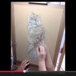 なんだ、写真…じゃない…だと…。と思わされるリアルな手描き猫(動画)
